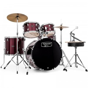 MAPEX IT TND5294FTCDR TORNADO STANDARD FAST FULL 5 PEZZI BURGUNDY RED