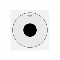 Remo CS-0318-10 Controlled Sound Top Black Dot Clear 18