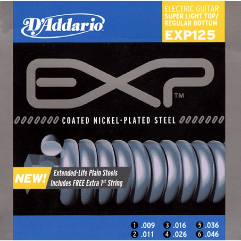 D'Addario EXP 125 09-46 Coated Electric
