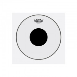 Remo CS-0313-10 Controlled Sound Top Black Dot Clear 13
