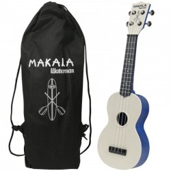Kala MK-SWS/BL Ukulele Soprano Waterman Swirl Blue in ABS con Custodia